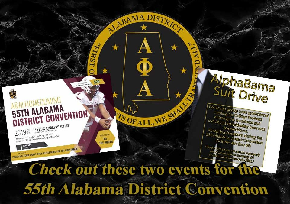 Events During The 55th Alabama District Convention